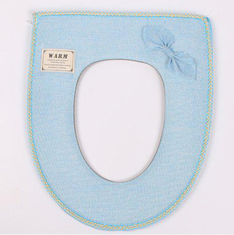 Affordable Flax Bowknot Toilet Bowl Mat