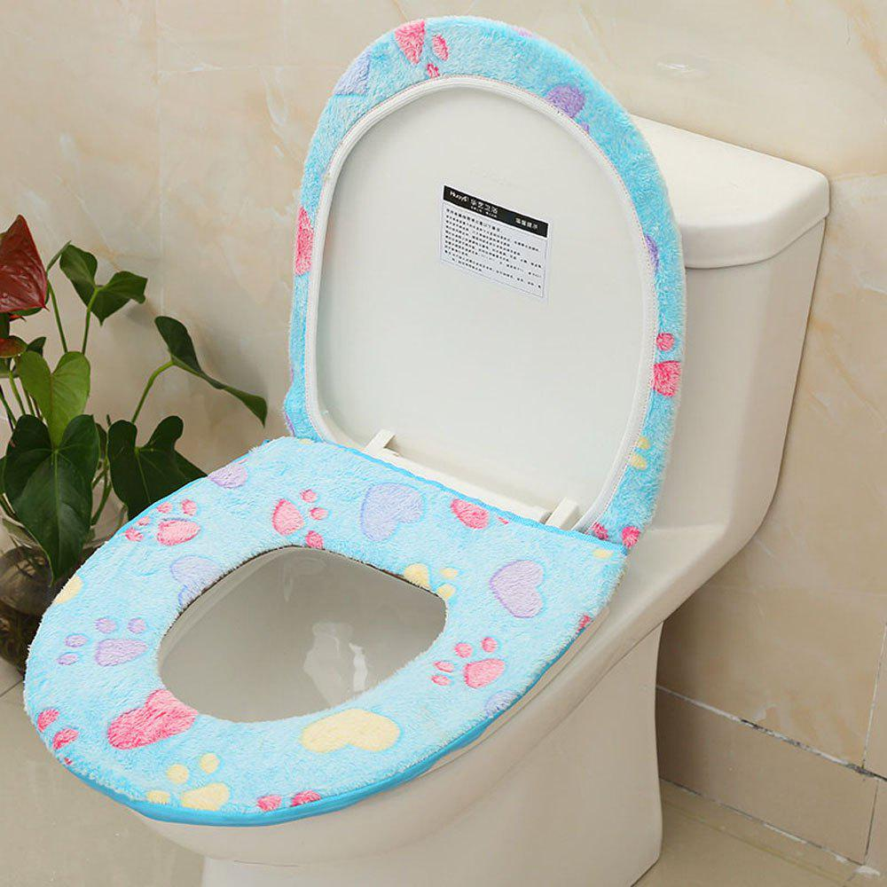 Trendy Plush Two-piece Toilet Seat Cover