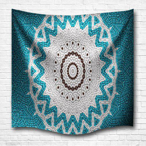 Unique Lake Blue Mandala 3D Digital Printing Home Wall Hanging Nature Art Fabric Tapestry for Bedroom Living Room Decorations