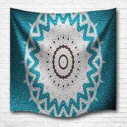 Lake Blue Mandala 3D Digital Printing Home Wall Hanging Nature Art Fabric Tapestry for Bedroom Living Room Decorations -