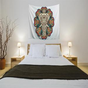 Elephant of the Mandala 3D Digital Printing Home Wall Hanging Nature Art Fabric Tapestry for Bedroom Decorations -