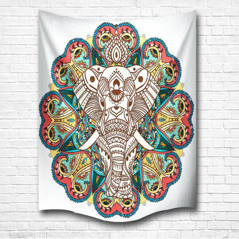 Outfit Elephant of the Mandala 3D Digital Printing Home Wall Hanging Nature Art Fabric Tapestry for Bedroom Decorations