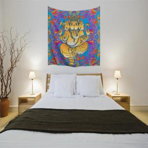 Hands Elephant Mandala 3D Digital Printing Home Wall Hanging Nature Art Fabric Tapestry for Bedroom Living Decorations -