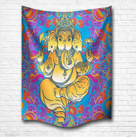 Trendy Hands Elephant Mandala 3D Digital Printing Home Wall Hanging Nature Art Fabric Tapestry for Bedroom Living Decorations