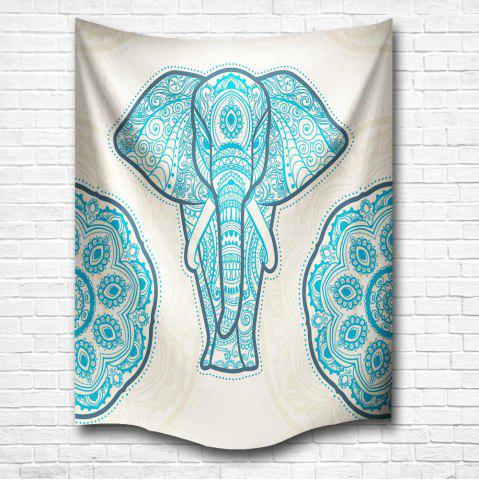 Fancy Blue Elephant of the Mandala 3D Digital Printing Home Wall Hanging Nature Art Fabric Tapestry for Bedroom Decorations