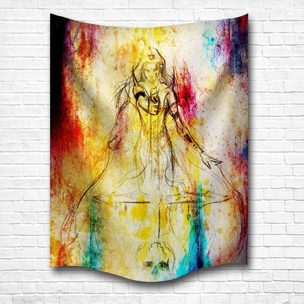 Colormix W153cmxl130cm Watercolor Woman Warrior 3d Digital Printing ...