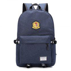 Travel Large-Capacity Backpack Badge Computer Bag -