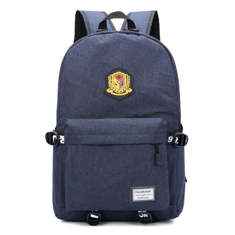 Trendy Travel Large-Capacity Backpack Badge Computer Bag