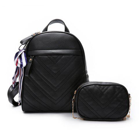 Shops Lychee Leather Shoulder Bag Wild Scarf Ling Grid Backpack