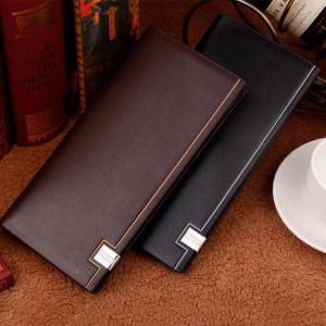 Men's Long Wallet High-End Europe and The United States Simple Fashion Suit Bag -
