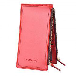 Lady Long Wallet Business Zipper Couple Phone Bag -