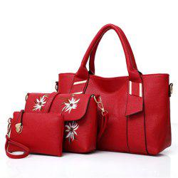 Handbag Fashion Shoulder Slung Casual Large-Capacity Lychee Pattern Bag -