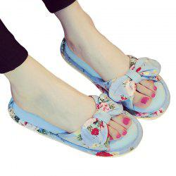 YJ001 Floral Bow Cute Women Home Soft Cotton Comfortable Slippers -