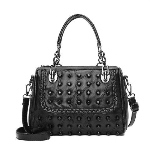 Affordable New Fashion Women Single Shoulder Slant Hand-held Spliced Willow Bag