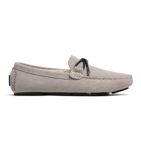 Shop New Winter Casual Lightweight Solid Color Peas Shoes