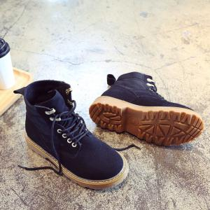 New Spring and Autumn High-Top Casual Cotton Boots -