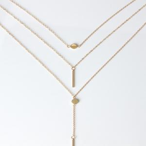 Contracted 3 Dots Necklace -