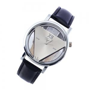 Stylish Unique PU Band Student Watch -