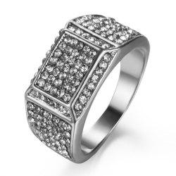 Armed with Luxurious Arm Full of Soil Ho Men Diamond Ring -