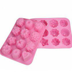 Flowers Pudding Jelly Silicone Handmade Soap Mold -
