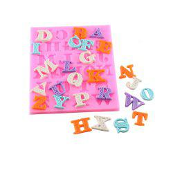 Letters Frosting Silicone Dry Pace Mold -