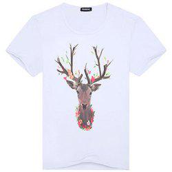 Fashionable Short Sleeve Handsome T-Shirt -