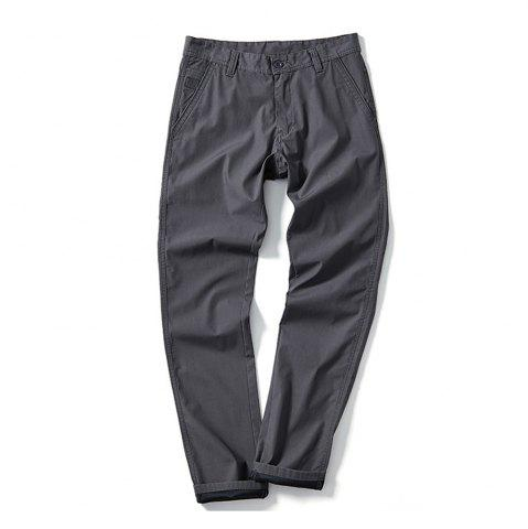 Discount Young Solid-Colored Casual Pants