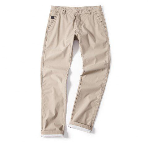 Online Young Solid-Colored Casual Pants