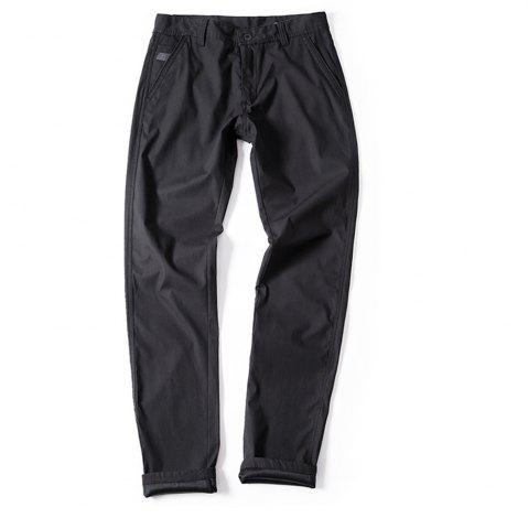Latest Young Solid-Colored Casual Pants