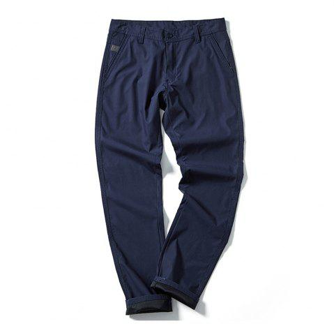 Sale Young Solid-Colored Casual Pants