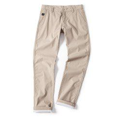 Young Solid-Colored Casual Pants -
