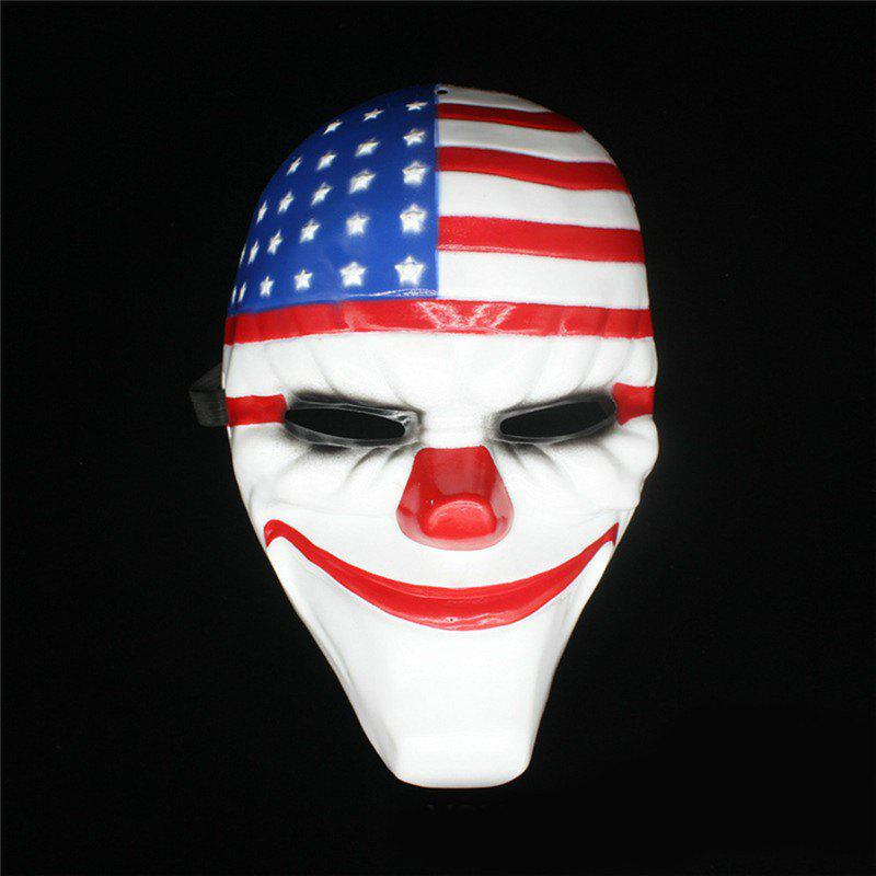 Halloween Masque d'horreur Payday Masque Plastique Old Head Clown Drapeau Mascarade Fournitures