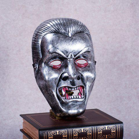 Fashion Vampire Face Mask Big Devil Shape Gray Plastic Masks Halloween Intimidation Dracula Party Decorating