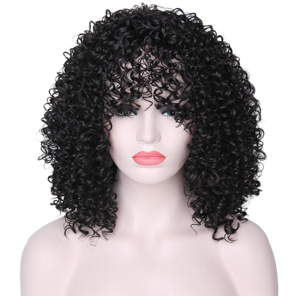 Cheap CHICSHE High Temperature Fiber Mixed Brown Blonde Color Synthetic Short Hair Afro Kinky Curly Wigs