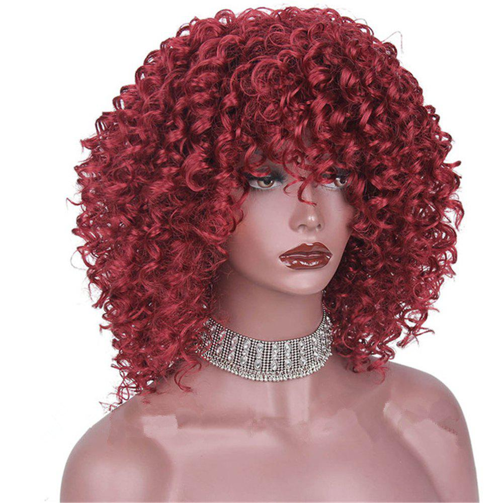 Hot CHICSHE High Temperature Fiber Mixed Brown Blonde Color Synthetic Short Hair Afro Kinky Curly Wigs