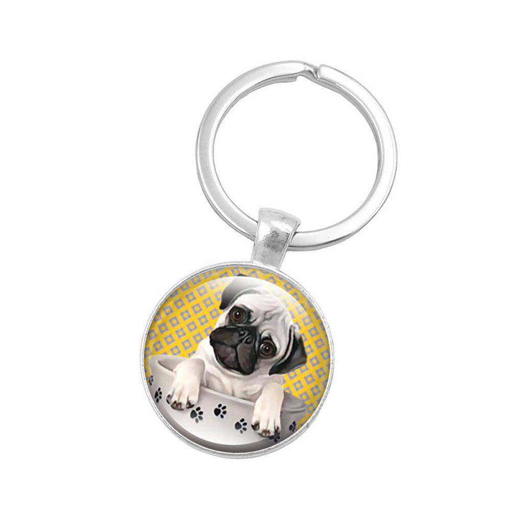 Fancy Fashion Tea Pug Pendant Keychain