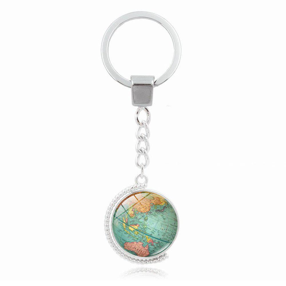 Hot World Map Double-Sided Keyring