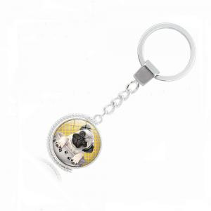 Teacup Pug Double-Sided Key Chain -