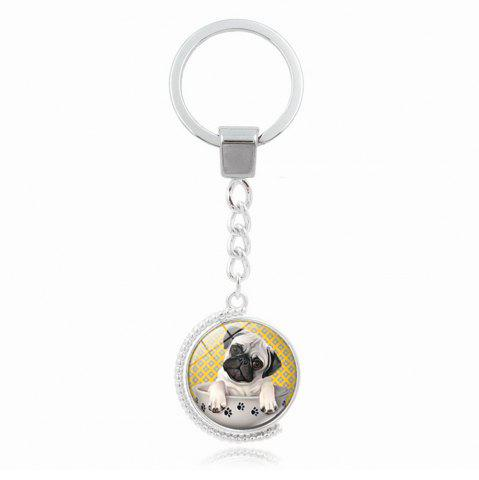 Chic Teacup Pug Double-Sided Key Chain