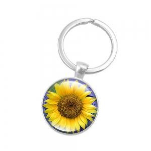 Fashion Sunflower Pendant Keychain -
