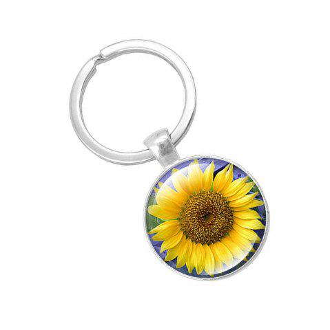 Trendy Fashion Sunflower Pendant Keychain