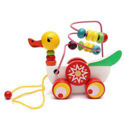 Animal Duckling Trailer Beads Toy -