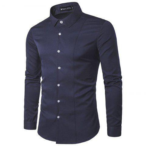 Store Fashion Men's  Long Sleeve Lapel  Shirt