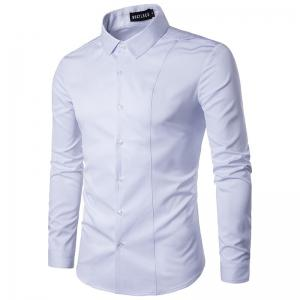 Fashion  Men's  Long Sleeve Lapel  Shirt -