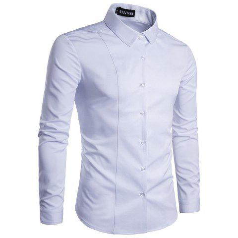 Cheap Fashion  Men's  Long Sleeve Lapel  Shirt