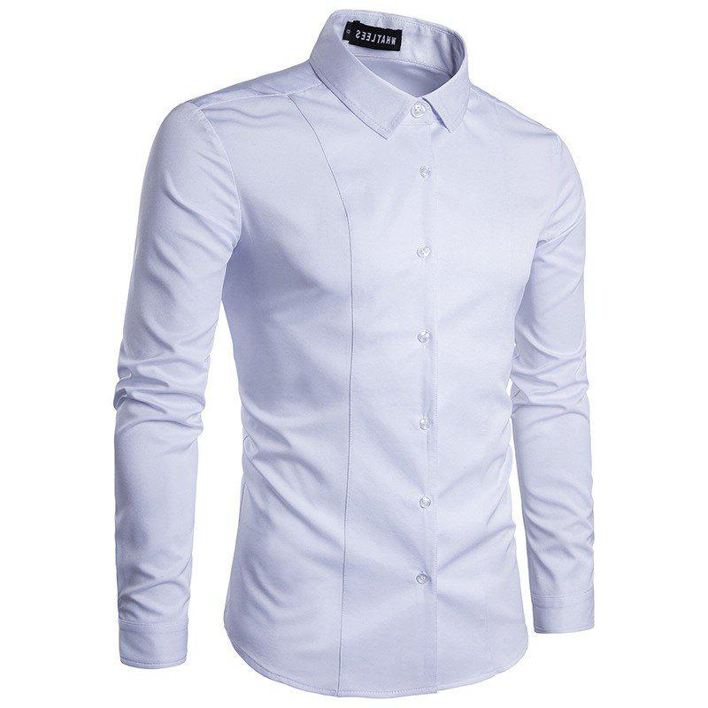 Latest Fashion  Men's  Long Sleeve Lapel  Shirt
