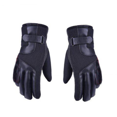 Unique Autumn and Winter Ski Warm Cashmere Thickened Outdoor Cycling Gloves for Men and Women To Prevent Cold Wind