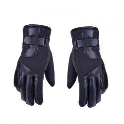 Autumn and Winter Ski Warm Cashmere Thickened Outdoor Cycling Gloves for Men and Women To Prevent Cold Wind -