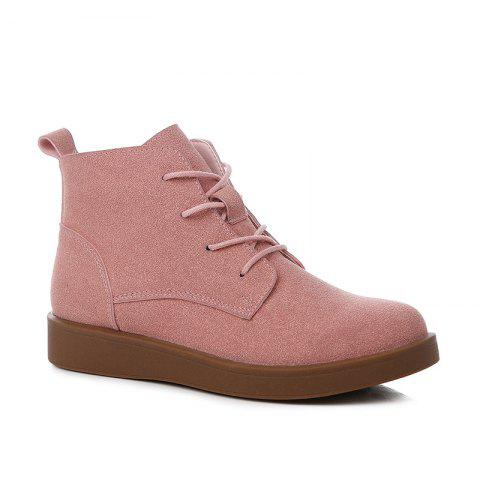 New Woman Retro Suede Platform Martin Boots