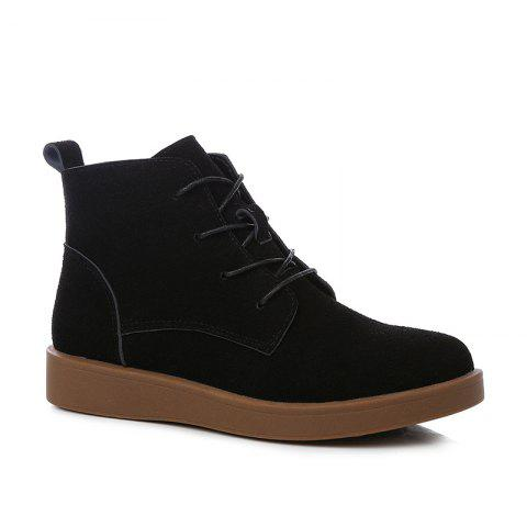 Hot Woman Retro Suede Platform Martin Boots